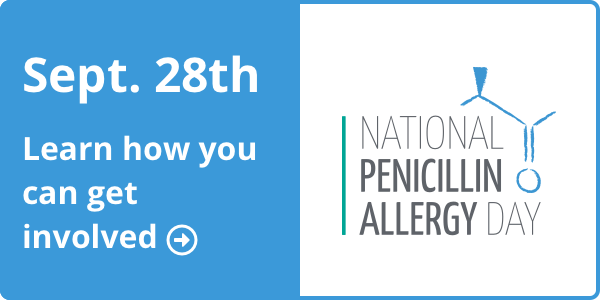 National Penicillin Allergy Day Web Button - Click to Learn More 200x181